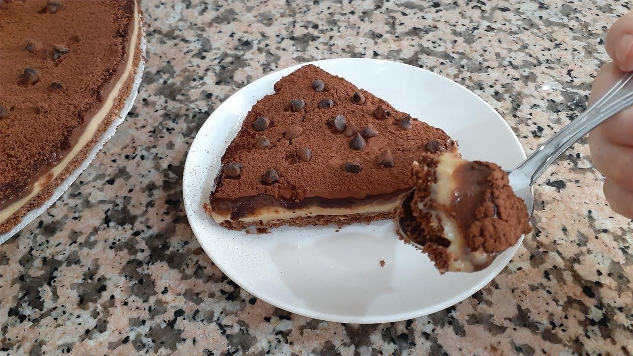 كيكة باردة بالبسكويت بدون فرن سهلة و لذيييذة جدا 😋😋 Gâteau aux biscuits sans cuisson