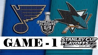 St. Louis Blues Vs San Jose Sharks  Western Conference Final  Game 1  Stanley Cup 2019  Обзор