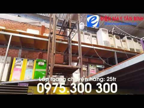 Thang máy tự chế, thang máy đơn giản dùng chuyển hàng hóa