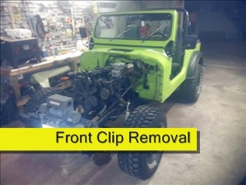 Front Clip Removal Jeep CJ7