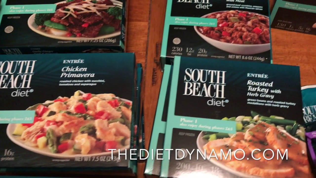 South beach diet frozen foods