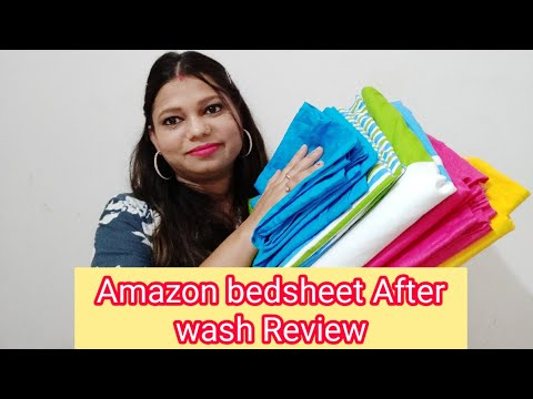amazon-bedsheets-after-wash-review-|-amazon-bedsheets-haul-|-amazon-product-honest-reviews