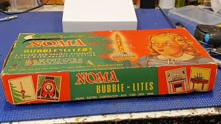 1940s Noma Bubble Lights. Replacing the bulbs.