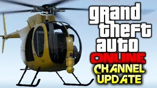 CHANNEL UPDATE - No Uploads For 1 Week (Holiday), Future Content, College - (GTA V Online Gameplay)