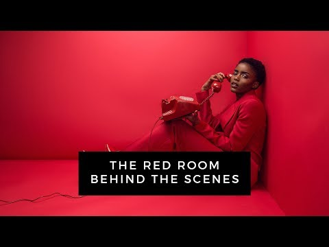 ALL RED EDITORIAL PHOTOSHOOT | BEHIND THE...