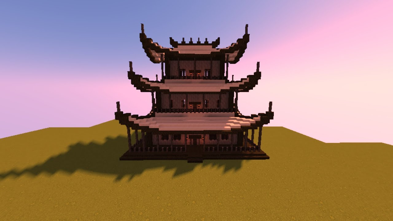 Minecraft How To Build A Chinese House بناء منزل صيني Youtube