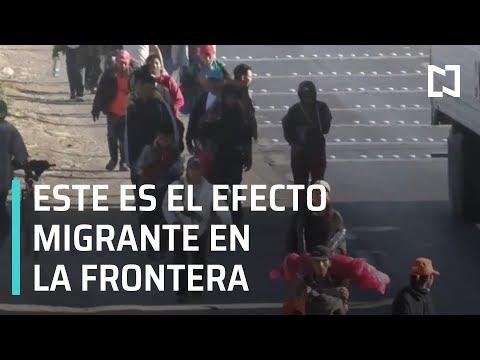 Efecto de la Caravana Migrante de Honduras en la Frontera - En Punto con Denise Maerker