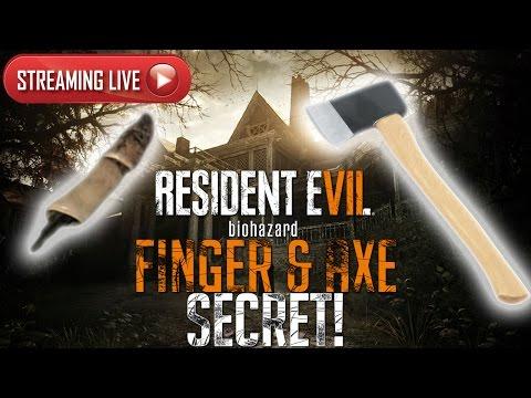 Resident Evil 7 Demo LIVE - Dummy Finger & Axe Purpose Hunting! (PAST BROADCAST)