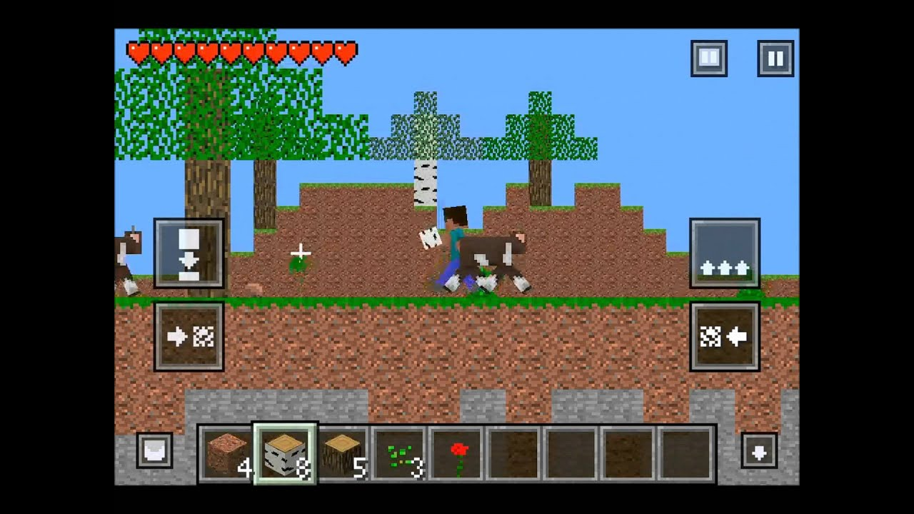 crafted minecraft 2d for iphone youtube On crafted 2d minecraft game download