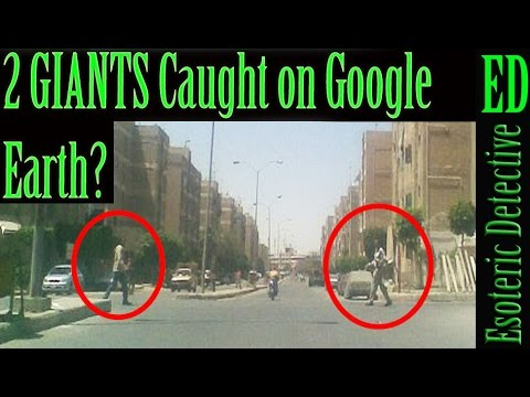 Two 9 foot giants caught on camera near the Giza Pyramids ...
