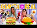 COMIDA DE GOMITA VS COMIDA REAL | MIS PASTELITOS