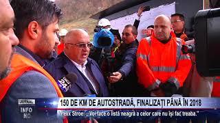 150 DE KM DE AUTOSTRADĂ, FINALIZAȚI PÂNĂ ÎN 2018