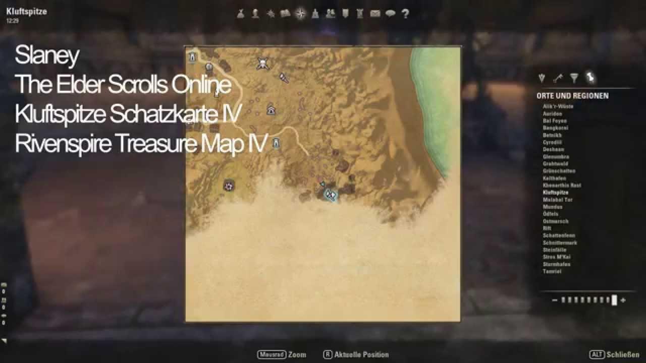 Elder Scrolls Online Kluftspitze Schatzkarte IV Rivenspire Treasure Map IV 1