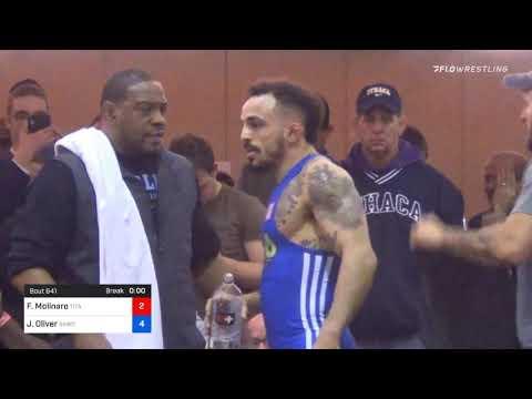 65 Kg Final Frank Molinaro Titan Mercury Wrestling Club OKRTC Vs Jordan Oliver Sunkist Kids Wrestl