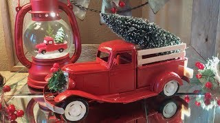 DIY Vintage Red Truck   Christmas Red Truck Theme Decor   Vintage Toy Truck Transformation