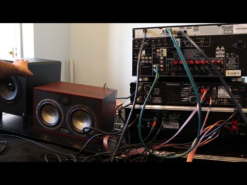 Home theater setup with external active Crossover and Amplifiers