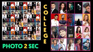 Facebook mega Photo Collage | Easy photo editing tutorial | Make collage of unlimited pictures KGF screenshot 3