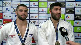 Paltchik and Sasson take gold for Israel in front of passionate home crowd