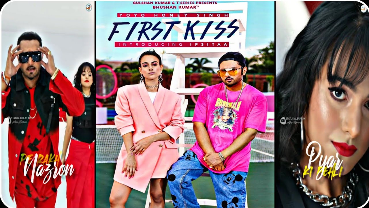 FIRST KISS : Yo Yo Honey Singh Ft. Ipsitaa(Full Screen WhatsApp Status)| Latest Song | Statusalbumak