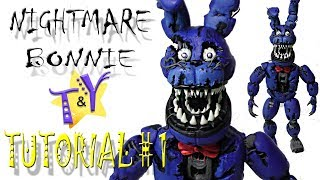 как слепить Кошмарного Бонни из пластилина Туториал 1 ФНАФ Nightmare Bonnie from clay Tutorial 1