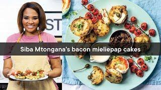 Siba Mtongana's bacon mieliepap cakes | Woolworths TASTE Magazine