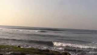 稲村ケ崎サーフィン(10/22am7.20)ー台風25号の波は肩くらいまでかな③