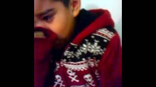 my son crying about his child support check