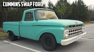 CUMMINS SWAPPED Ford F100 Review - The Best of Both Worlds?