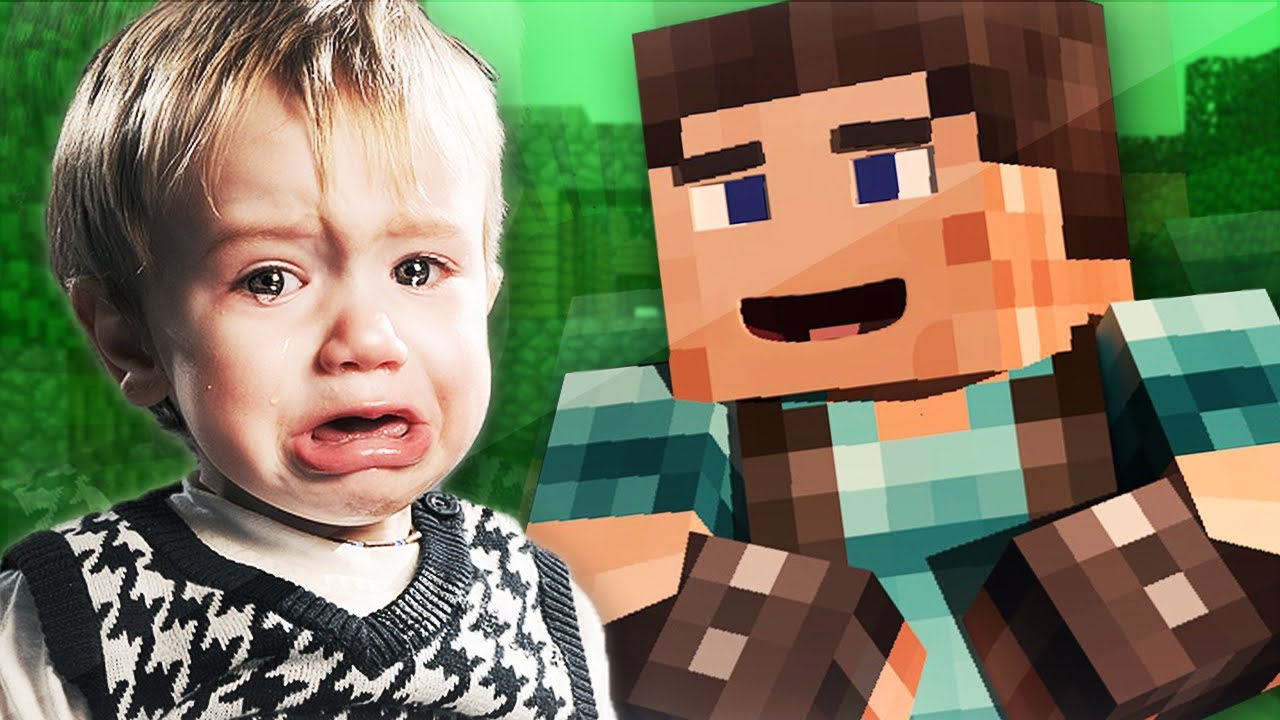 little kid trolled in minecraft youtube