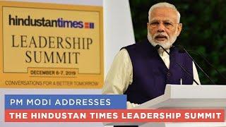 PM Modi addresses The Hindustan Times Leadership Summit