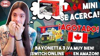 ¡NINTENDO 64 MINI MUY CERCA! | ¡PACK de POKÉMON AGOTADO en 10 MIN! | Bayonetta 3 - Switch Online