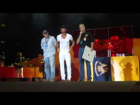 Tim McGraw, Lousiana Music Hall of Fame, 2012-08-03