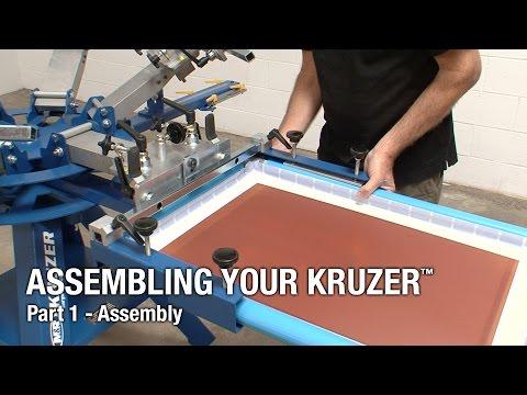 M&R Kruzer Manual Screen Printing Press - Assembly Instructions - Part 1