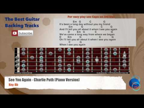 Piano piano chords see you again : See You Again - Charlie Puth (Piano version) Guitar Backing Track ...