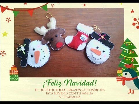 Figuritas de navidad fieltro youtube - Manualidades con fieltro para navidad ...