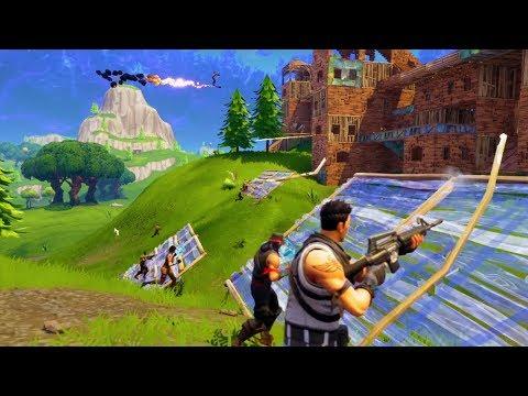 STARTING WARS IN 50v50! *SQUADS w/ RANDOMS!* | Fortnite Battle Royale Funny Moments thumbnail