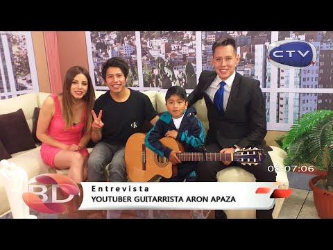 Entrevista en Canal 18 CTV - ARON APAZA│demostrando cualidades musicales