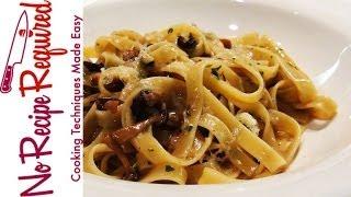 Pasta With Mushroom Sauce - Noreciperequired.com