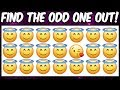 Find the odd emoji out | Emoji puzzle brain game for kids | Spot the difference | Puzzle quiz
