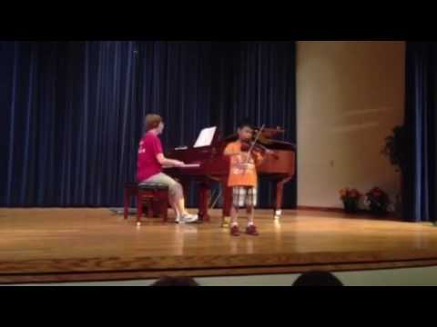 wesley in honor recital at suzuki summer camp 2014 - youtube