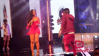 shatta wale kisses Shatta Mitchy on stage At Becca's concert