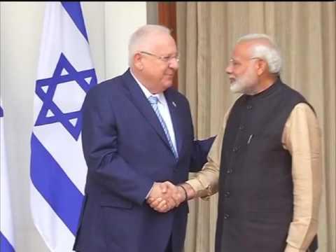 Israel President Rivlin and Indian PM Modi meet in New Delhi