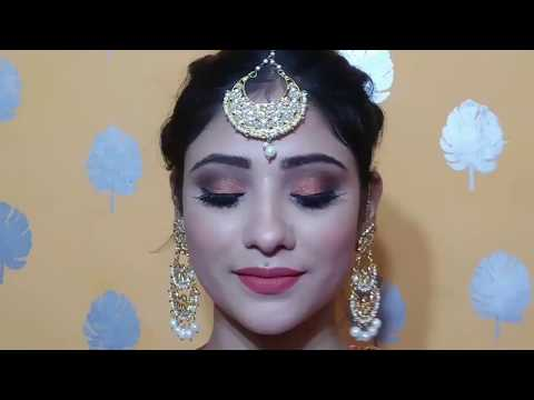 INDIAN WEDDING GUEST MAKEUP ||party Makeup +hair style || shystyles