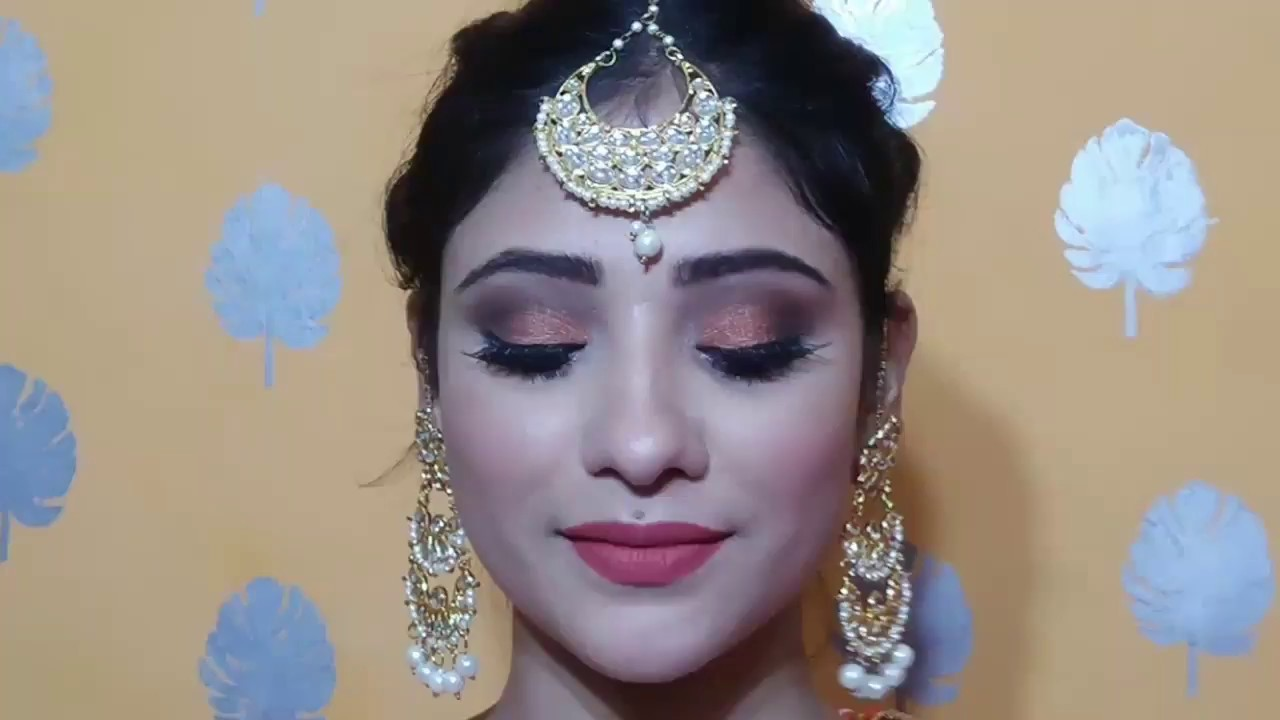 INDIAN WEDDING GUEST MAKEUP   party Makeup +hair Style    Shystyles - YouTube