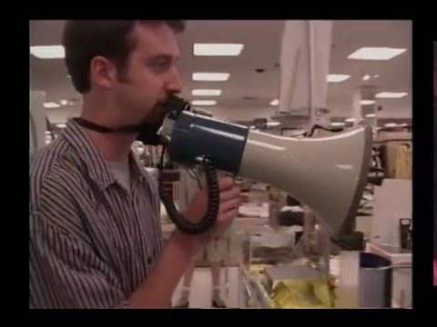 Tom Green using Megaphone in Store