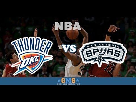 Oklahoma City Thunder vs San Antonio Spurs replay Ysterday, 7:00 PM Chesapeake Energy Arena