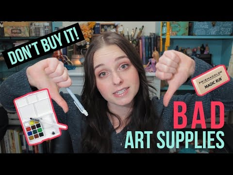 ART SUPPLIES THAT AREN'T WORTH THE MONEY | REVIEWING BAD ART SUPPLIES!?