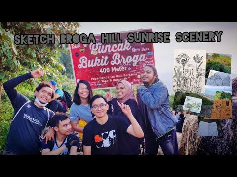Sketch Broga Hill Sunrise Scenery With #SKETCHNATURE