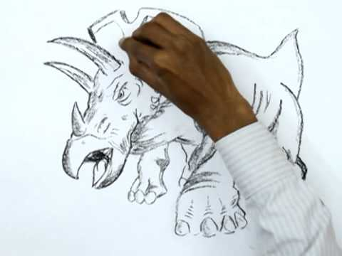 how to draw dinosaur king