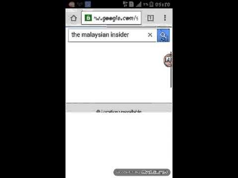 Cara untuk membuka laman web The Malaysia Isider
